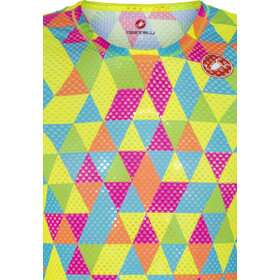 Castelli Pro Mesh Mouwloze Baselayer Jersey Heren, multicolor fluo